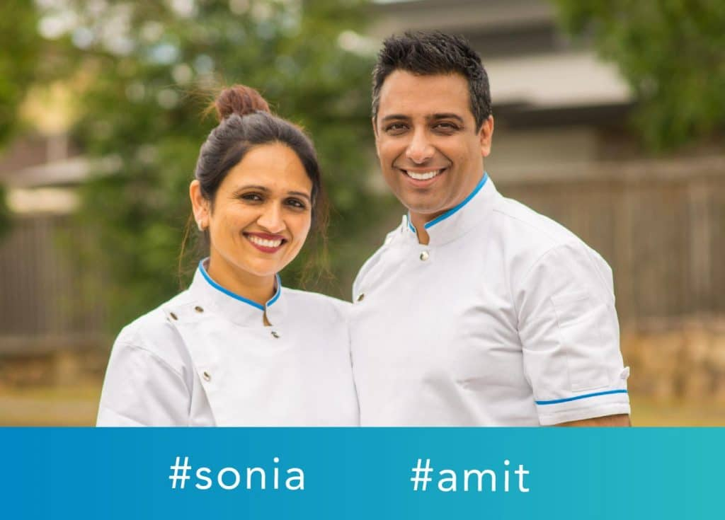 Dr Sonia and Dr Amit of Hashtag Dentist providing Cosmetic Dentistry Brisbane.